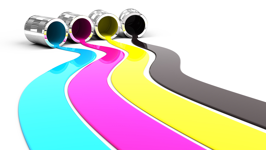CMYK colours used in printing process